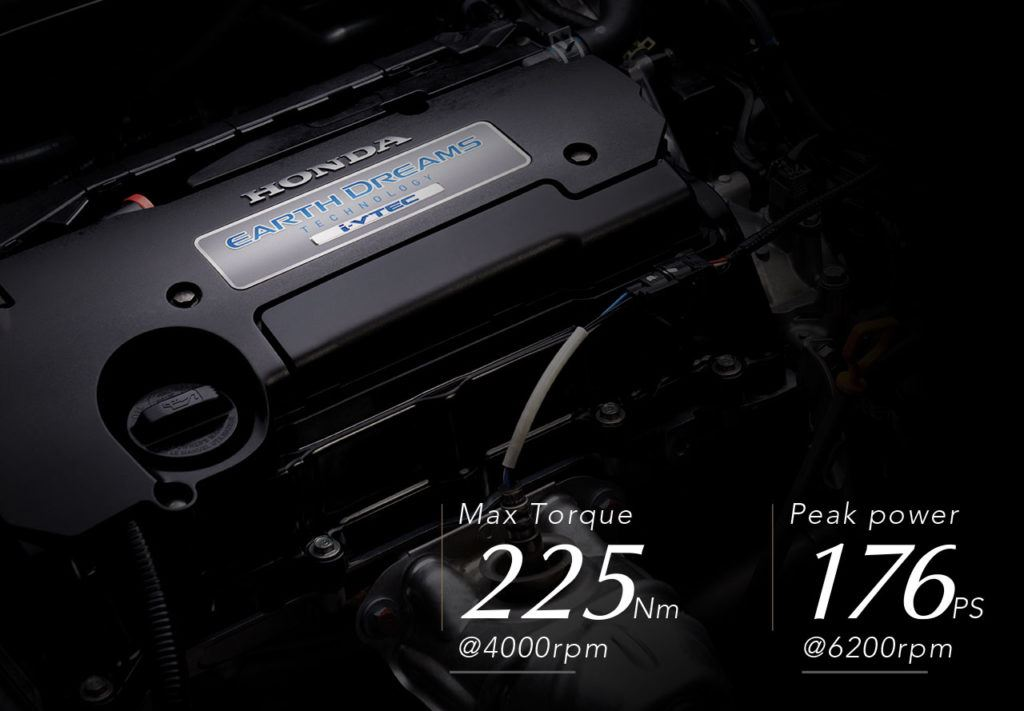 2.4L i-VTEC with Earth Dreams Technology